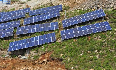 photocell: Solar power equipment Stock Photo