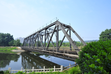 steel structure: Steel structure of railway bridge