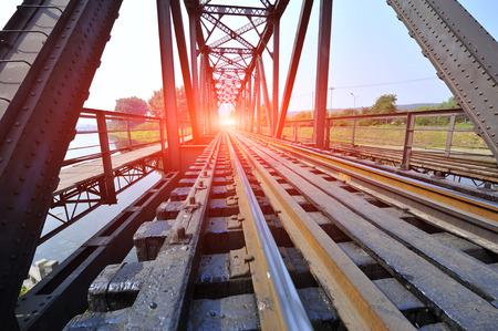 railway: Steel structure of railway bridge