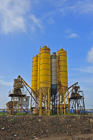 silo: Cement mixing silo Stock Photo