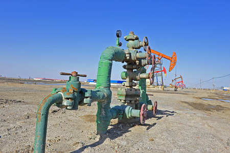 Valves and piping Stock Photo