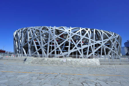 China birds nest national Olympic stadium