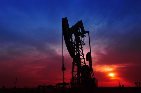 fuel and power generation: The oil pump Stock Photo