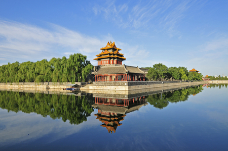 relic: Beijing the imperial palace watchtower Editorial