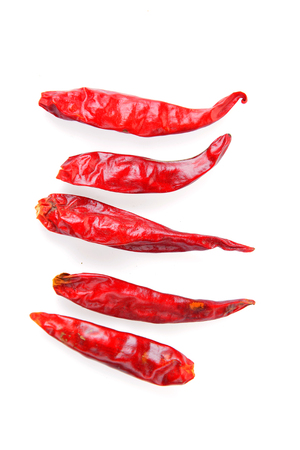The chili of isolated on a white background