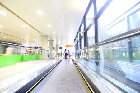 Moderne liftbeweging Stockfoto