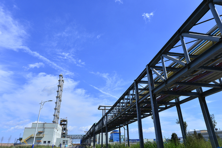 metal structure: The pipe and valve oil fields