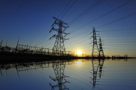 pylon landscape view during dusk