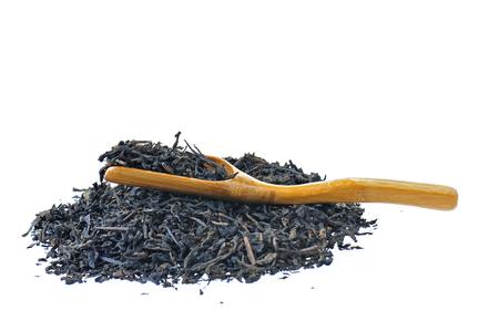tea leaves on white background Stok Fotoğraf
