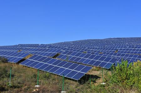Solar power equipment Stock Photo