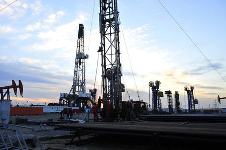 oil and gas industry: Oil Pump during sunset