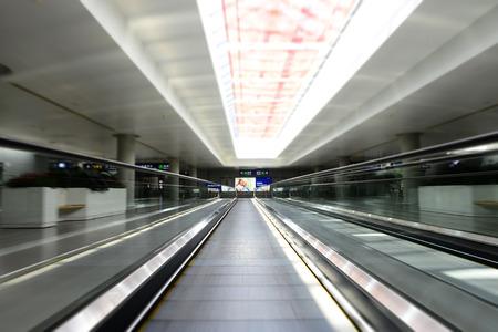 View of an indoor escalator Editorial