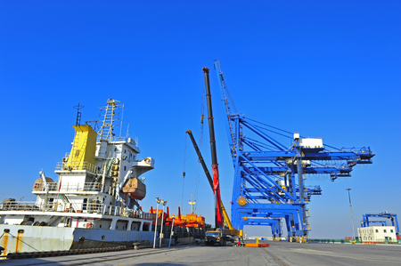 The port crane Stock Photo