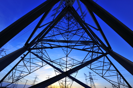 Low angle view of pylon