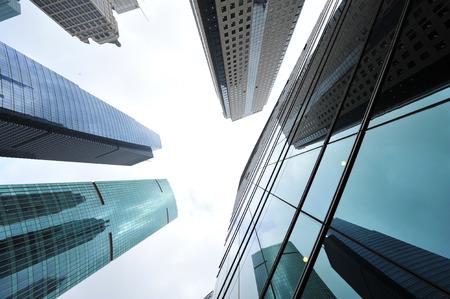 Shanghai world financial center skyscrapers in lujiazui group  Archivio Fotografico