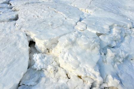 On winter sea ice Stock Photo