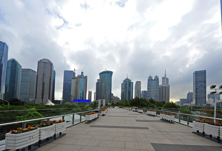 world financial center skyscrapers in lujiazui group.