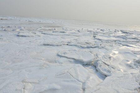 On winter sea ice 写真素材