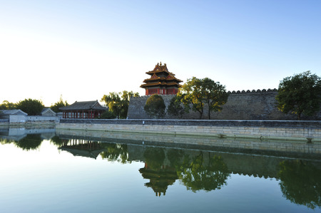 Beijing the imperial palace watchtower Editorial