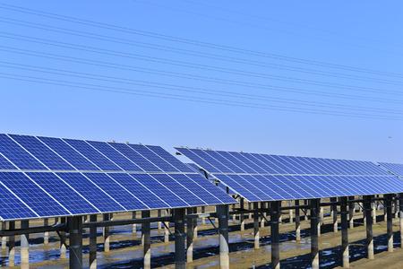 Solar panels, green energy