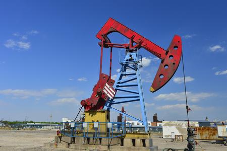 The oil pump Stock Photo