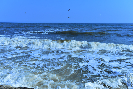 The waves of the sea