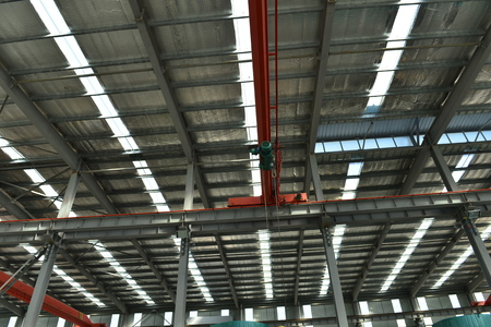 Workshop steel structure Stock Photo