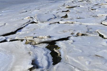 The accumulation of sea ice in the sea 版權商用圖片