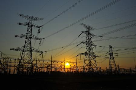 pylon towers Zdjęcie Seryjne