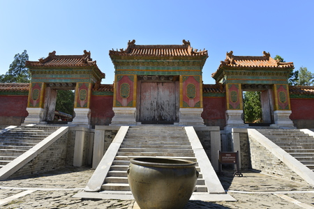 Ancient architecture scenery in Eastern Royal Tombs of the Qing Dynasty, Zunhua, Hebei Province, china.