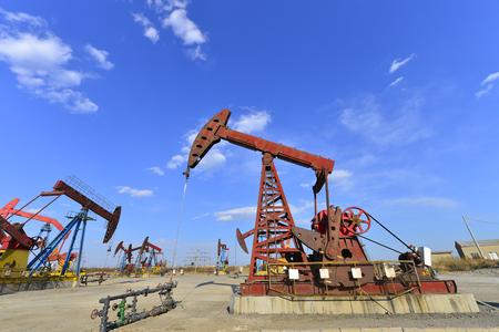 The oil pump Stockfoto