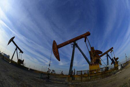 Oil pump in the outdoor work 写真素材