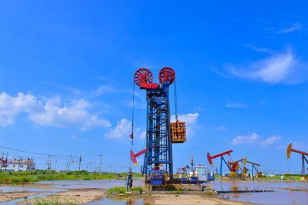 Oil pump in the outdoor work Stockfoto