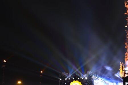 Urban building lights at night