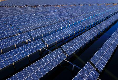 Solar panels green energy light energy