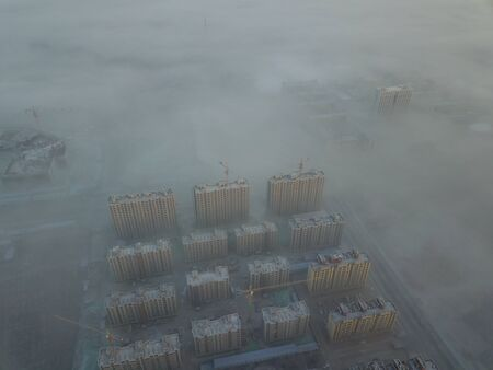 The fog in the city
