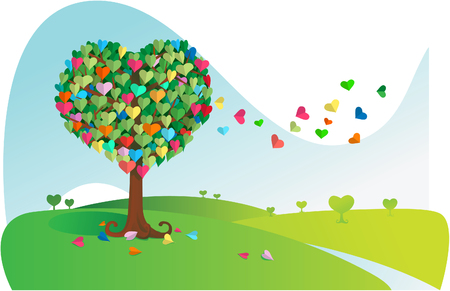 Love Tree Stock Vector - 2486622