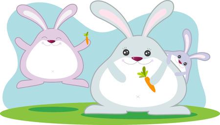 Fat Rabbit Stock Vector - 2690028