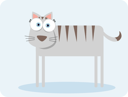 Cartoon cat with big eye