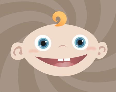 Face of Baby Boy Illustration