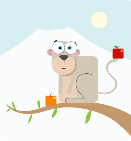 Cartoon Monkey with big eye