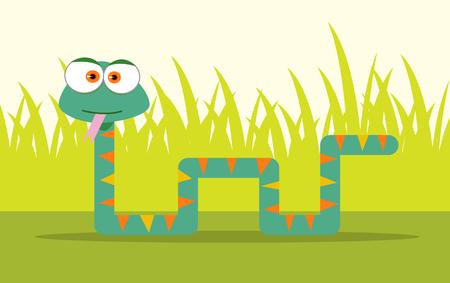 Cartoon Snake with big eye