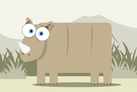 Cartoon Rhino with big eye