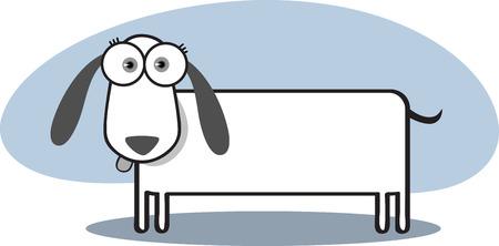 Caricatura de perros con grandes ojos en Blanco y Negro  Foto de archivo - 3381860