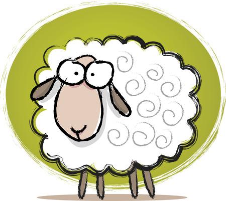 Illustration of Sketch Cute Sheep