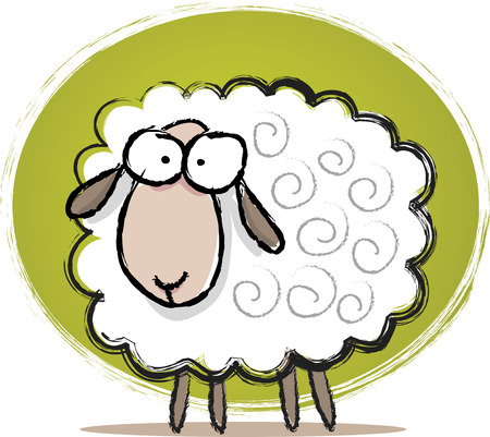 oveja: Ilustraci�n de Sketch lindo ovejas