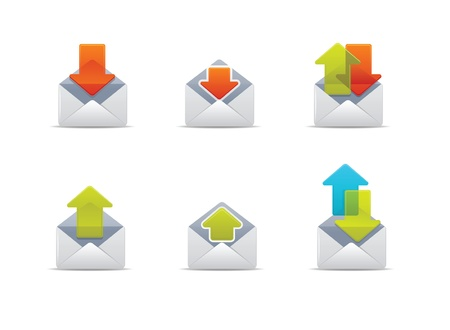 Illustration icons for mail and web Stock Vector - 10415671