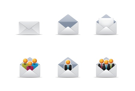 Illustration icons for mail and web