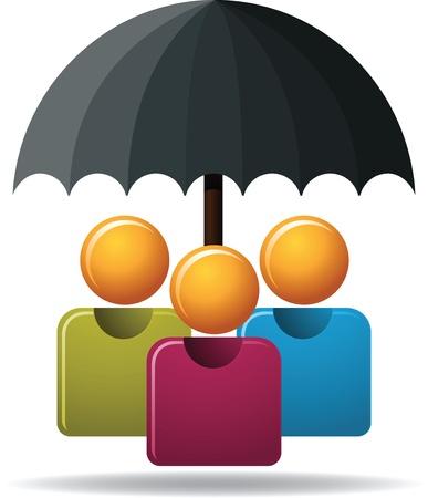 Illustration of family protection  Stock Illustratie