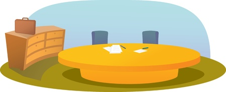 Illustration of office table